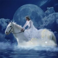 Moon Bathing with the Epona Full Moon of June