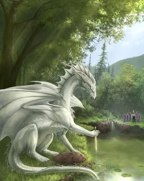 Forest White Dragon
