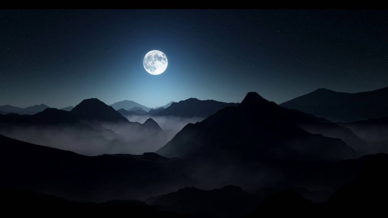 Full moon mountain