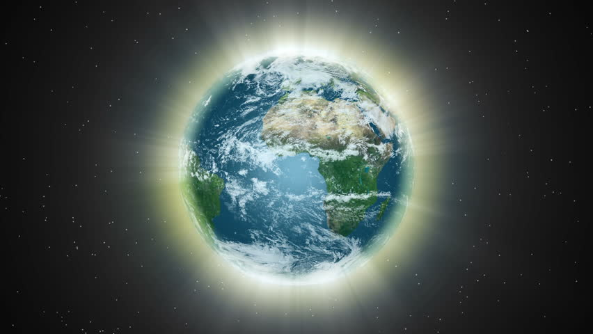 earth light shining