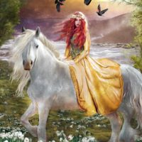 June 24th – Full Moon – Dedicated to the white horse and Goddess Epona
